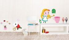 Wandtattoo Wandsticker Homesticker Alice im Wunderland Kinderzimmer Deko