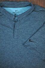 Nike Dri-Fit Aeroreact Polo Shirt Green Heather Stripe Men's XL