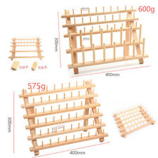 Sewing Thread Rack Organizer Foldable Wooden Stand Storage 46/60 Spool Holder