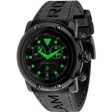 GLAM ROCK MEN'S MIAMI BEACH 46MM BLACK SILICONE BAND QUARTZ WATCH GR61116