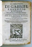 La chirurgia, tradotta dalla sua latina nella lingua volgare, FALLOPIO 1637 med
