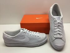 Nike All Court Low Leather Tennis Cross Training White Sneakers Shoes Mens 11.5