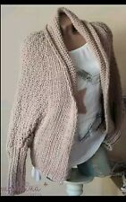 Damen Longshirt Strick Cardigan Jacke Strickjacke  Oversiz 🔼Neu🔽Made Italien