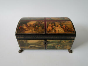 """Vintage REUGE Music Box With Brass Lion Legs  Edelweiss """" Climb Every Mountain """""""