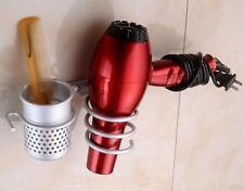 Home Bath Hair Dryer Organizer Storage Rack Hanger Holder Wall Mounted Stand -8C