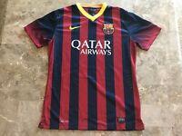 Neymar Jr #11 2012-2013 FC Barcelona Striped Blue Red Nike Jersey Adult Size M