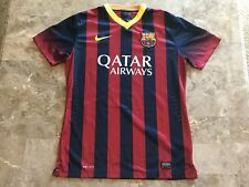 Neymar Jr #11 2012-2013 FC Barcelona Striped Blue Red Nike Jersey Adult Size M