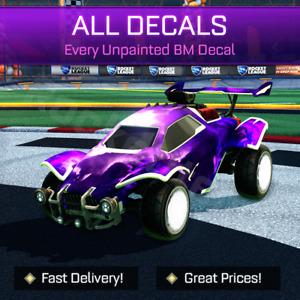 Rocket League Items - All Black Market Decals, Unpainted - PC / PS4 / PS5