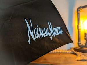 NWT, Neiman Marcus Logo, Black Windpro Auto Open & Close Umbrella by ShedRain
