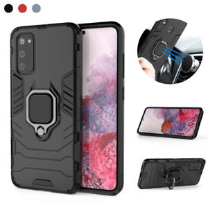 Case For Samsung S21+ S20 FE S10 A12 A21s Magnetic Armor Ring Stand Hard Cover