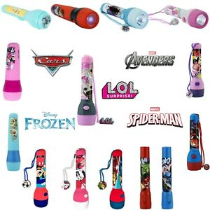 Kids LED Flash Light Torch Paw Patrol Shimmer &Shine Trolls Cars3 Kids Xmas Gift