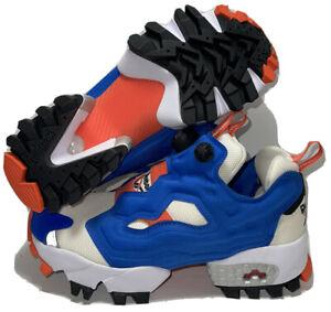 NEW Reebok Instapump Fury Trl Chalk Shoes White/Vivdor Blue FW6016 Men 6 / 7.5W