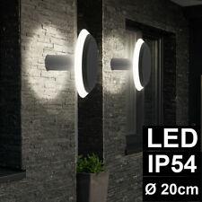 2er Set LED Wandstrahler Terrassen Außenlampen Down Leuchten Veranda BxH 7x8 cm