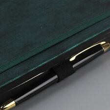 Leather Clip Pencil Self-adhesive Elastic Loop Holder Notebooks Pen Holder CV US