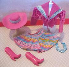 Vintage Barbie 1989 Cowgirl Cowboy Western Fun Fashion CLothes Boot Necklace HAT