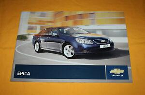 Chevrolet Epica 2008 Prospekt Brochure Depliant Prospect Catalog Broschyr