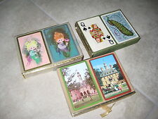 Lot of 3 Vintage FOURNIER & CONGRESS Playing Cards USED Peacock 100% Complete