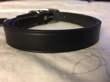 "New Circle T Coastal Pet Products Premium Black Leather Dog Collar 16"""