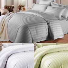 Plain Duvet Cover & Pillowcase Reversible Bedding Set Single Double King Sizes