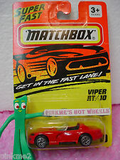 MATCHBOX Super Fast #10 DODGE VIPER RT/10∞Red w/Chrome spoke wheels ∞TV SHOW