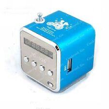 Blue Mini Digital Micro SD TF FM USB Speaker Radio Player For iPod iphone MP3/4