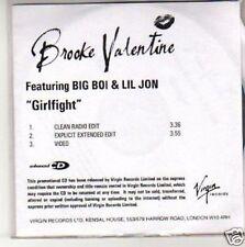 (H166) Brooke  000009F1 Valentine, Girlfight - Dj Cd