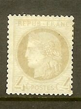 "FRANCE STAMP TIMBRE N° 52a "" CERES 4c GRIS-JAUNATRE 1872 "" NEUF x TB"