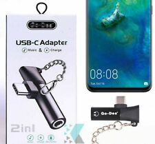 For Samsung Galaxy Note 10 10+ 5G S10 S9 S8 A70 Type-C to 3.5mm Earphone Adapter
