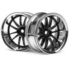 HPI 3288 Work XSA 02C Wheel 26mm Chrome/Black 9mm Offset (2) Sprint 2 E10 Nitro3
