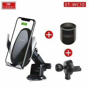15W Fast Car Wireless Charger with Easy Infrared Sensing 3-in-1 Car Mount WC10