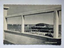 LIGNANO SABBIADORO spiaggia vele Udine vecchia cartolina bn