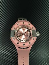 Invicta Men's 1367 S1 Rally GMT Pink Dial Pink Polyurethane Watch