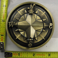 COMPASS CARDINAL DIRECTION METAL BELT BUCKLE NORTH SOUTH EAST WEST B248