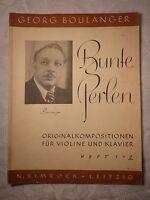 Bunte Perlen, Georg Boulanger, Heft 2, Simrock, Leipzig, Noten Violine Klavier