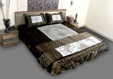 Home King 4 Pcs New Indian Cottage Vip Satin Pattern Style for Bedding Bedcover