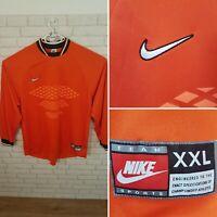 Nike Goalkeepers Top Orange Football Mens (New) Size XXL RRP £39.99