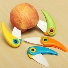 Hot Mini Bird Shape Fruit Ceramic Folding Knife Kitchen Cutlery with ABS Handle