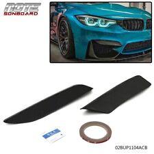 FOR 15-19 BMW F80 M3 F82 F83 M4 CARBON FIBER FRONT BUMPER UPPER EYE LID COVERS