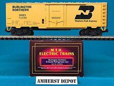 MTH O Scale Premier 20-9404 Burlington Northern 40' Reefer Car NIB