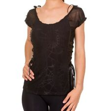 Banned Day Tripper Top Shirt Rockabilly Netz Lace Schnürung Gothic  #3152 661