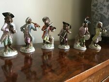 The Monkey Band by Sitzendorf comprising of six porcelain figurines