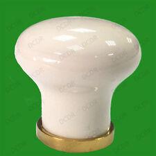 8 X Petite Blanc 28mm Armoire Garde-robe Cuisine Poignée De Tiroir Porte Placard