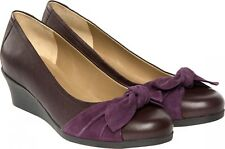 Ladies Casual Slip On Shoes Van Dal Mimi Purple / Suede UK Size 4 D Fitting