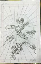 ORIGINAL CHRIS SPROUSE THE ULTIMATES #3 PRILIMINARY VARIANT COMIC COVER ART! Comic Art