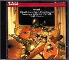 Neville MARRINER: VIVALDI Double Concerto Winds CD Iona Brown William Bennett
