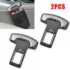 2Pcs Car Safety Belt Clip Seat Belt Buckle Carbon Fiber Clamp Car Accessories