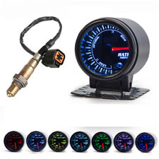 52mm Car Air Fuel Ratio Gauge 7Color LED w/ Oxygen O2 Sensor For Hyundai Accent