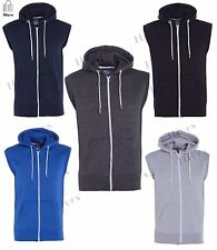 Mens Hoodie Zipper Fleece Sleeveless Hoodie Sweatshirt Gilet Hoody Boys Top