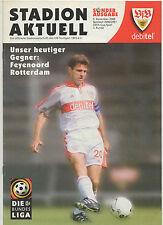 Orig.PRG   UEFA Cup  2000/01    VfB STUTTGART - FEYENOORD ROTTERDAM  !!  SELTEN