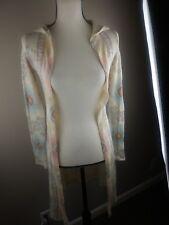 Blu Planet Santa Fe Pattern Hooded Long Sweater & Sleeve Medium